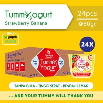 Heavenly Blush Tummy Yogurt Stirred Strawberry Banana 80 g  harga terbaik 300000