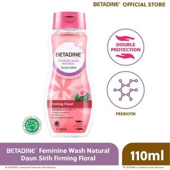 Betadine Feminine Wash Natural Firmin Floral 110 mL harga terbaik 19716