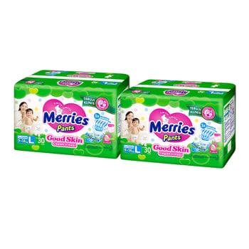 Merries Pants Good Skin L 30S - Twinpack harga terbaik 131000