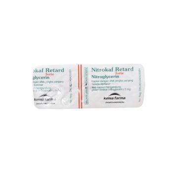 Nitrokaf Retard Forte Kapsul obat untuk pencegahan dan terapi dalam mengatasi nyeri dada.