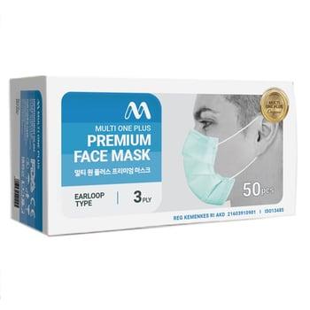 Multi One Plus Premium Face Mask Earloop harga terbaik
