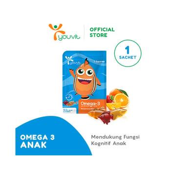 Youvit Multivitamin Gummy Omega-3 Anak 7 Days - 7pcs harga terbaik 20900
