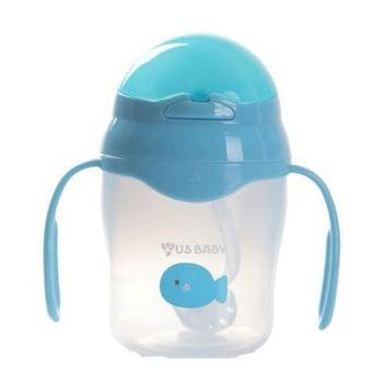 US Baby Straw Training Cup 150 ml - Biru harga terbaik 168000
