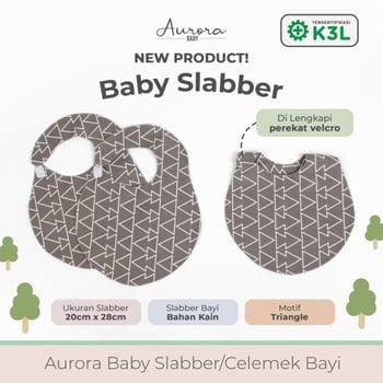 Aurora Baby Slaber/Celemek Bayi - Triangle harga terbaik 39999
