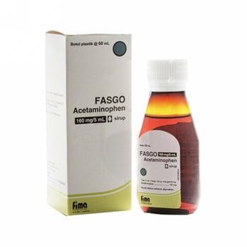 Fasgo sirup berguna untuk meredakan rasa nyeri ringan hingga sedang serta menurunkan demam pada anak