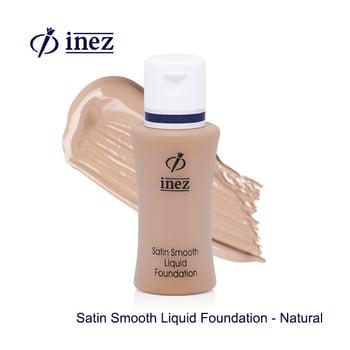 Inez Satin Smooth Liquid Foundation - Natural harga terbaik