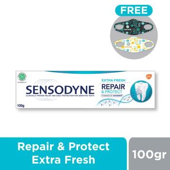 Buy Sensodyne Repair & Protect Extra Fresh 100 g FREE SehatQ Mask harga terbaik 34160