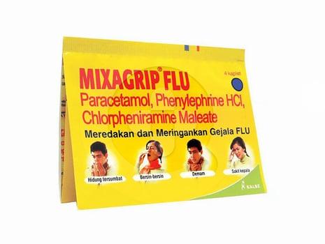 Mixagrip Flu kaplet adalah obat untuk meredakan dan meringankan gejala flu seperti demam