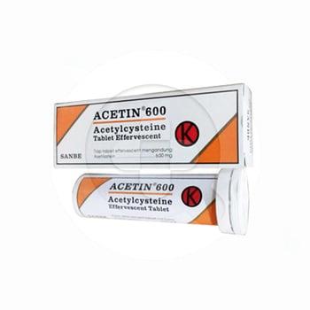 Acetin 600 Tablet Effervescent 600 mg (1 Tube @ 10 Tablet)