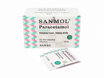 Sanmol Tablet 500 mg (1 Strip @ 4 Tablet)