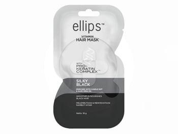 Ellips Hair Mask Pro Keratin Silky Black Sachet 18 g