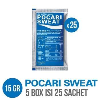 Pocari Sweat Sachet 15 g (5 Box @ 5 Sachet)