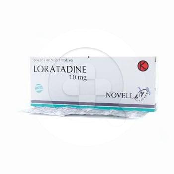Loratadine Novell Tablet 10 mg (1 Strip @  10 Tablet)
