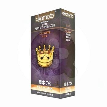Okamoto Kondom Crown (1 Box @ 10 Pcs)