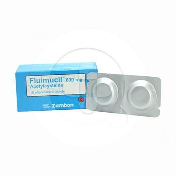 Fluimucil Effervescent Tablet 600 mg (5 Strip @ 2 Tablet)