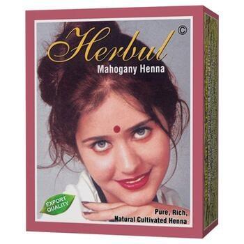 Herbul Mahogany Henna Hair Dyes (Box @ 6 Pcs)