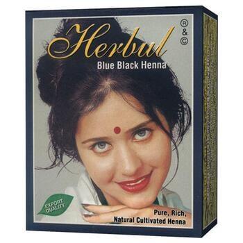 Herbul Blue Black Henna Hair Dyes (Box @ 6 Pcs)