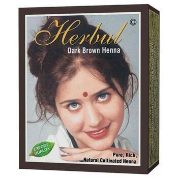 Herbul Dark Brown Henna Hair Dyes (Box @ 6 Pcs)